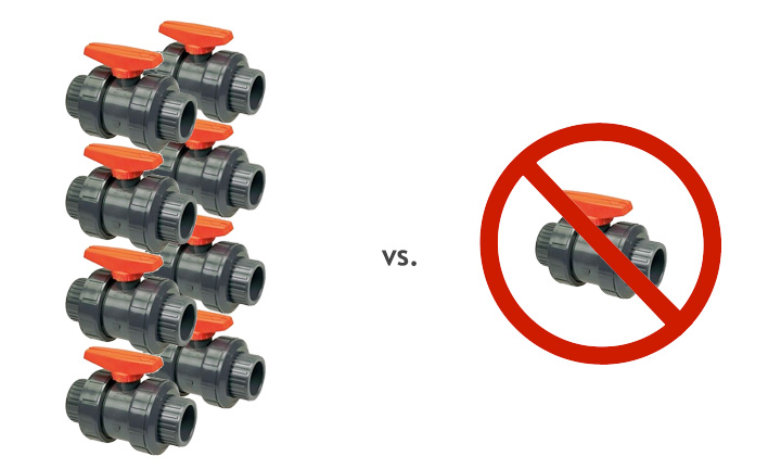Tuna Tube Valve manifold comparison